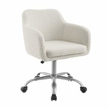Linon Home Decor Products Linon Brooklyn Sherpa Office Chair, Ivory - $179.23
