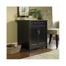 Black Cabinet Freestanding Utility Cart Storage Drawer Adjustable Shelf ... - $177.70