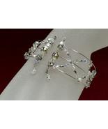 Swarovski crystal wire wrap bracelet, 3 strands - $85.00