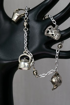 Teapots and pails wine charms, magnetic closure - $22.00