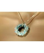 Swarovski crystal wreath, light blue - $45.00
