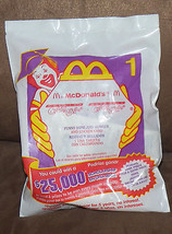 NEW Funny Bone + Howler 1 McDonald's Happy Meal Kids Toy 2000 Sticker Card - $7.80