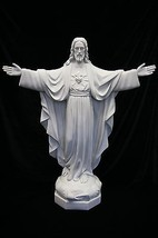 "34"" Blessing Sacred Heart of Jesus Christ Catholic Statue Sculpture Made... - $419.95"
