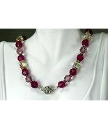 Swarovski crystal romantic necklace, rhinestone magnetic ball clasp - $340.00