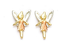 14K Fairy Design Screw Back Stud Earring 'On Sale' - $40.16