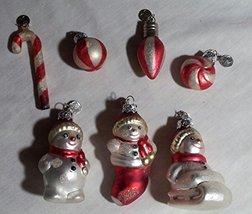 Retired Department 56 Mini Glass Ornament Set - Snowmen - $15.99