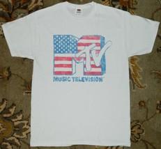 MTV TV Series Retro Distressed Flag Logo T-Shirt NEW UNWORN - $21.28+