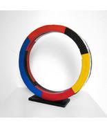 Tony Rosenthal 1985 Painted Steel Unique Ring Table Top Sculpture JKLFA.com - $9,405.00