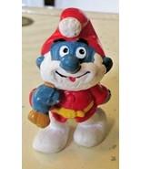 Vintage SMURFS Smurf PAPA as Santa Claus mini PVC Figure toy - $19.99