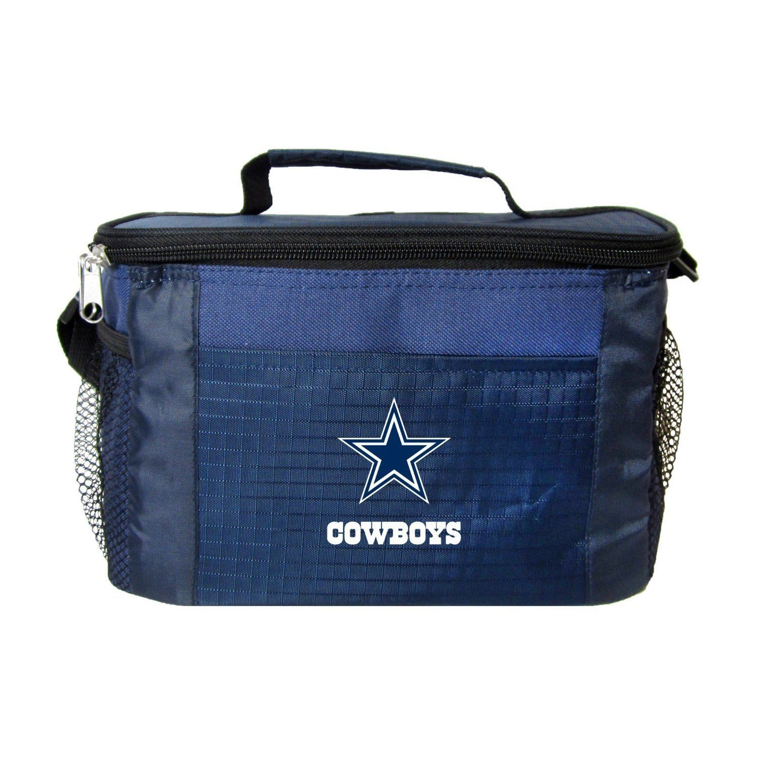 DALLAS COWBOYS LUNCH TOTE 6 PK BEER SODA TEAM LOGO KOOLER BAG NFL FOOTBALL