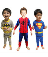 Baby Kid Toddler Boy Superman Spiderman Batman Pajamas Sleepwear Nightwear Cloth - $25.50