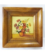 Helen detar california hand painted oil painting wall home decor floral ... - $32.66