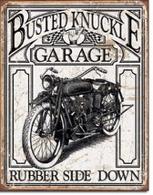 Busted Knuckle Vintage  Metal Tin Sign Wall Art  - $19.79