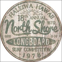 North Shore Surf  Metal Tin Sign Wall Art - $19.79