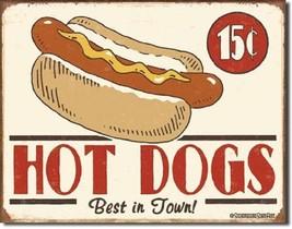 Schonberg - Hot Dog Metal Tin Sign Wall Art - $19.79