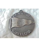 MEDAGLIA BRONZO ARGENTATO REAL CLUB NAUTICO BARCELLONA SPAGNA 1969 BARCE... - $15.68