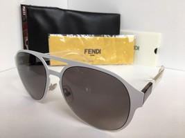 New FENDI FF 0082/S E2OEU 55mm White Clear Designer Women's Sunglasses - $259.99