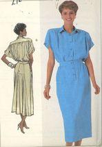 Simplicity 7942 Vintage 80s Shirtdress Back Skirt Inset Size 8 10 12 UNCUT - $5.50