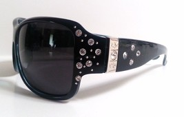 Large Polarized Womens Sunglasses Bling with Rhinestones Wrap - £7.36 GBP
