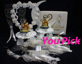ADORABLE Lady & the Tramp Disney Wedding Cake Topper Puppy dog pets lovers  - $68.00