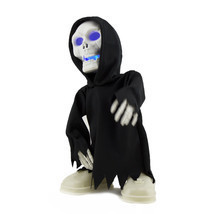 Walking Talking Light Up Grim Reaper Animated Skeleton Halloween Decorat... - $300,94 MXN