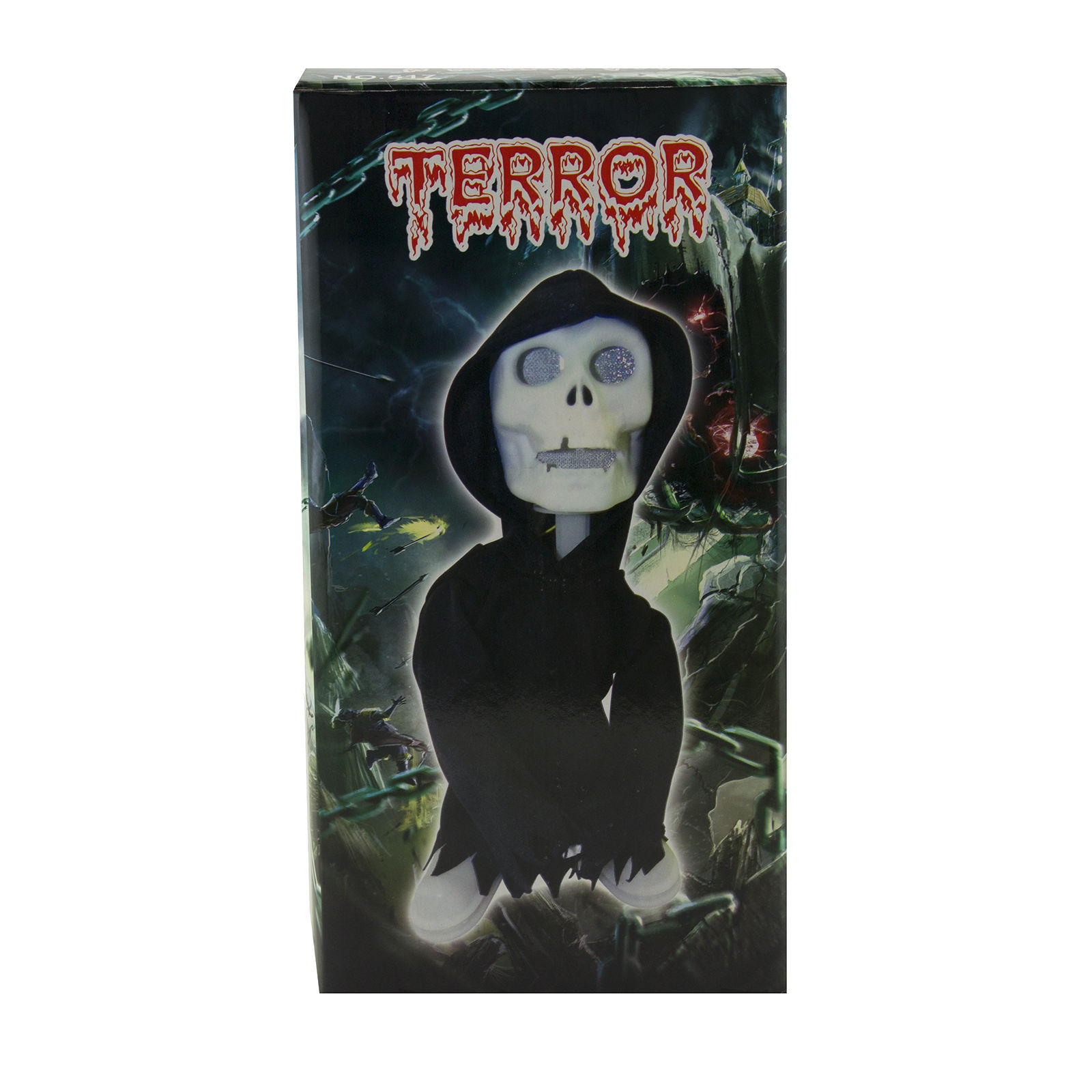 Walking Talking Light Up Grim Reaper Animated Skeleton Halloween Decoration Eyes