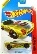 Hot Wheels - 2014 HW Race 176/250 - X-Raycers - Nerve Hammer (Yellow) - $3.00