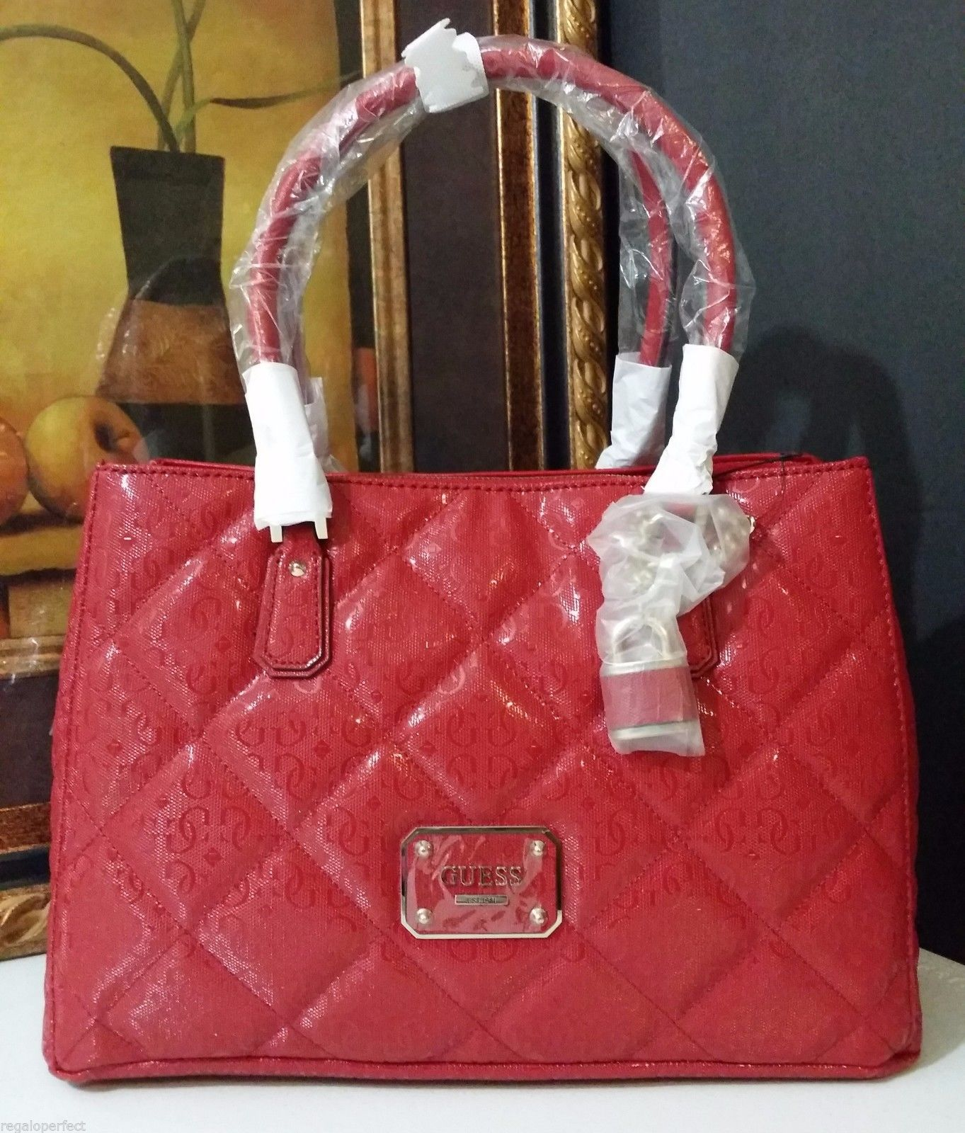 NWT GUESS Ophelia Girlfriend Satchel Lipstick SG456223