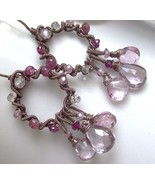 secret garden rose de france amethyst earrings - $129.00