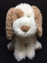 """Russ Mylo Puppy Dog Plush Stuffed Animal 12"""" Tan Spots Ivory & White CLE... - $26.79"""