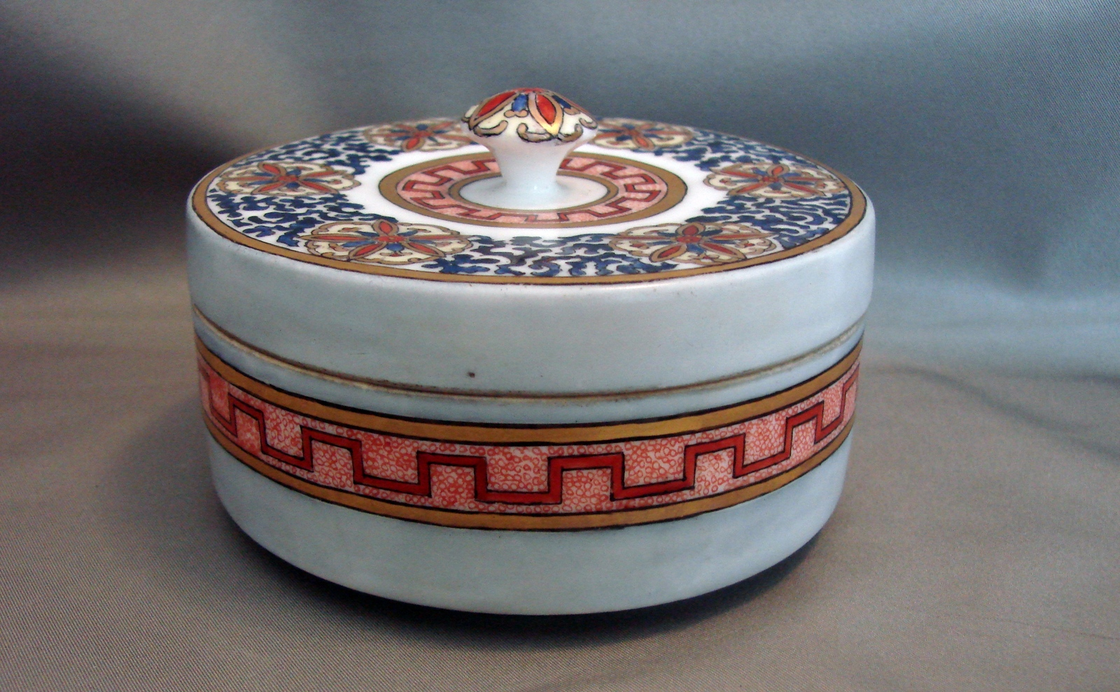 Primary image for Royal Bavaria Hand Painted Signed Round Lidded Trinket Box