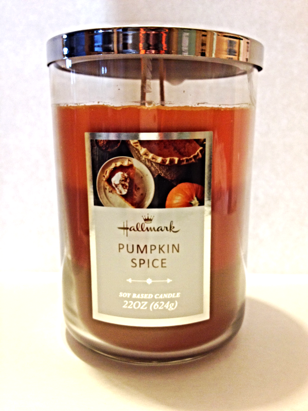 New Hallmark Pumpkin Spice Soy Based Candle Large Tumbler ...