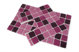 Block 2 Piece Cotton Bath Set   Bath Mat And Pedestal Mat   Pink - $24.16