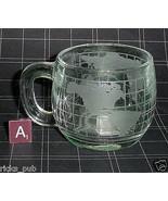 Set of 4 Nestle Nescafe World Globe Coffee Tea Cocoa Glass Mugs ● NESTLE... - $18.95