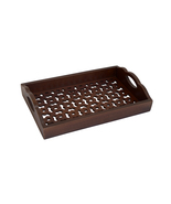 "Decorative & Handcrafted Indian Wooden Fretwork Serving Tray. Size : 14""... - $36.15"