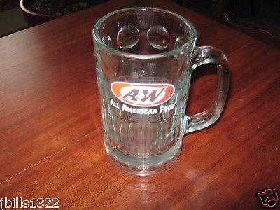 "A & W All American Food Root Beer Glass Mug 6"" Tall"