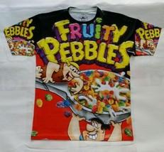 Custom Fruity Pebbles black T Sublimated Shirt  powder legend foams cereal - $33.99