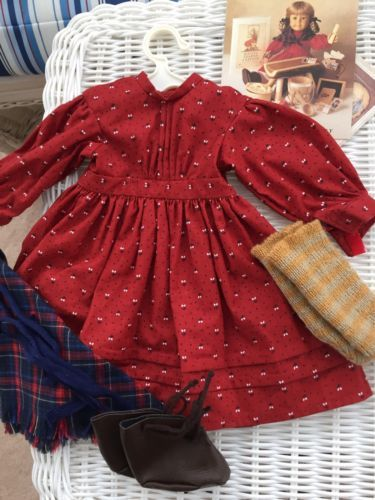 American Girl  Kirsten School Story Complete Outfit EUC Pleasant Co, Book+