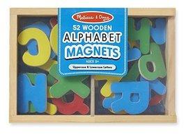 Melissa & Doug Wooden Alphabet Magnets - $12.38