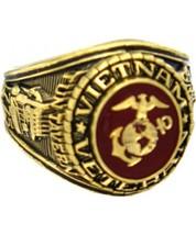 U S Marine Corp Vietnam Veteran Electroplated 18K Gold Ring - $49.99