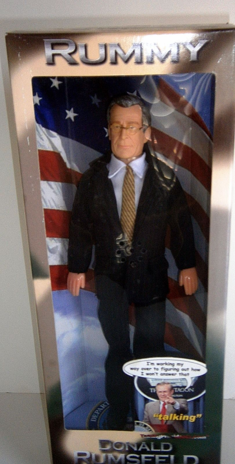 "Donald Rumsfield Doll ""Rummy"" Secretary of Defense 12"" NEW"