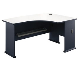 Bush Office Furniture  A-Series Right L-Bow Desk in Slate and Pewter BSH... - $281.59