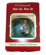 M.J. Hummel Ornament Hear Ye,Hear Ye 1985 3rd Annual The Ornament Collec... - $9.99