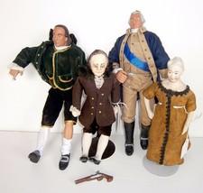 """Four Historical Dolls """"Franklin"""" """"Roosevelt"""" """"W... - $84.15"""