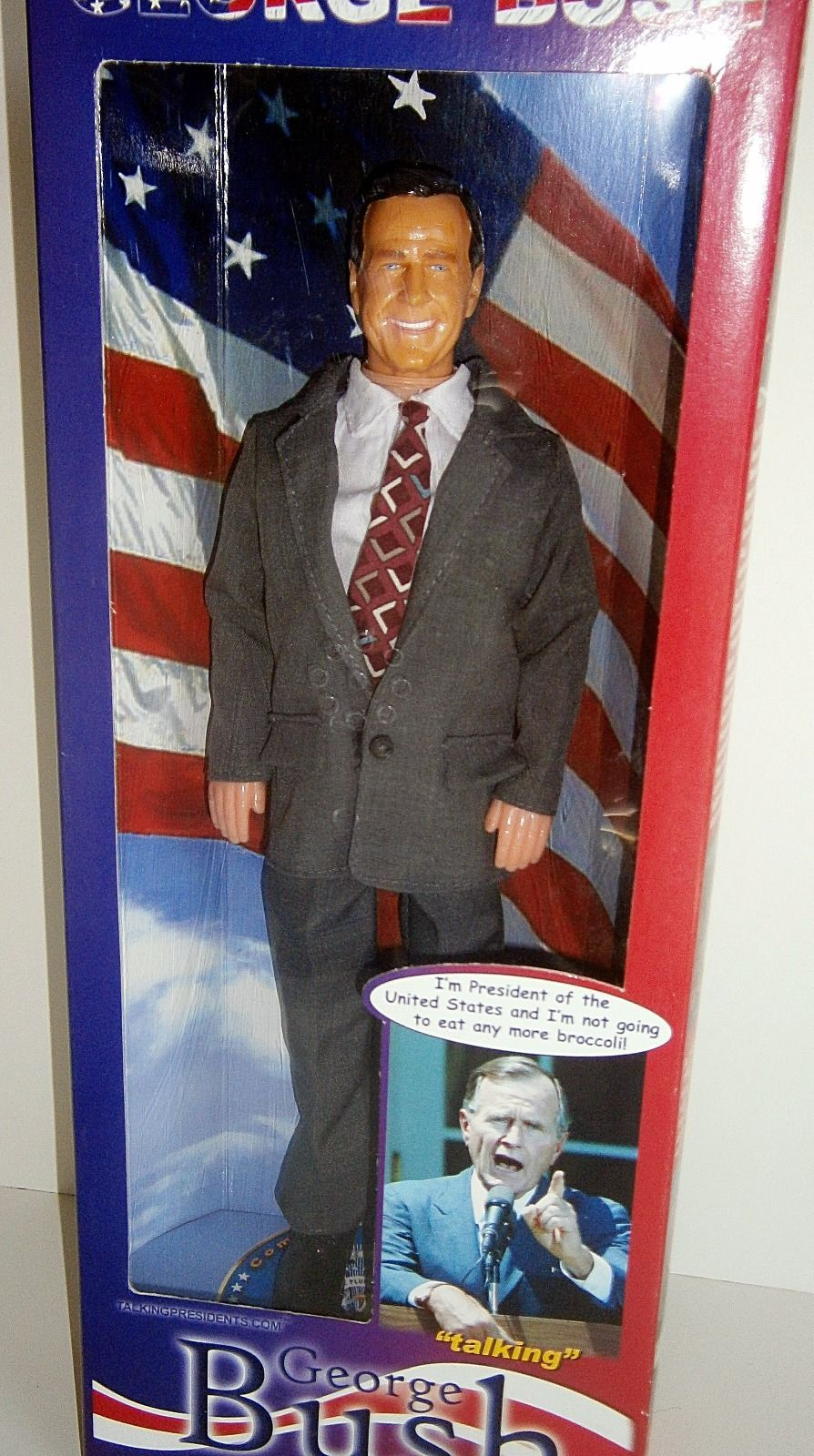 George H. Bush Talking Doll NEW