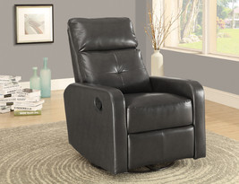 Monarch Recliner - Swivel Glider / Charcoal Grey Bonded Leather - $535.99