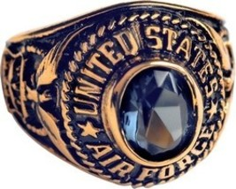 U S Air Force Women Electroplated 18K Gold Ring - $49.99