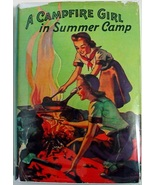 A Campfire Girl in Summer Camp #3 Jane L. Stewart hcdj Saalfield Publishing - $8.00