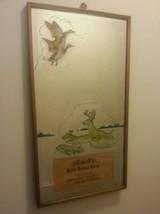 RARE Vintage August Schell's Deer Brand Beer Advertising mirror sign New... - $375.00