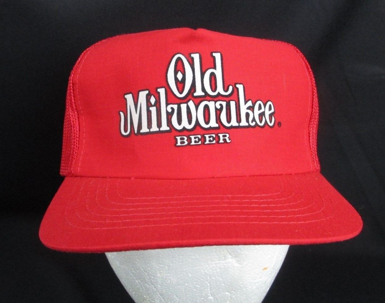 f99c0b836a7d5 Vintage Red Old Milwaukee Beer Snapback mesh and 50 similar items. S l1600